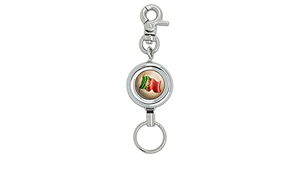 Portuguese I Heart Love Keychain Key Ring Vintage Portugal Flag