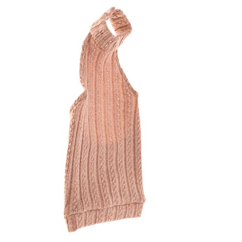 Bjd Dress - Homyl Fashion Knitted Flower Backless Turtleneck Dress for 1/3 BJD DZ AS LUTS Dollfie Dolls Clothes Party/Casual Outfit