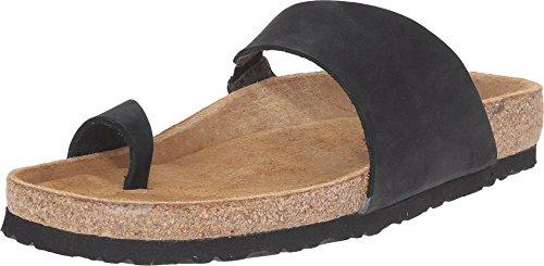 Naot Footwear Women's Santa Fe Black Nubuck Sandal 38 (US Women's 7) M