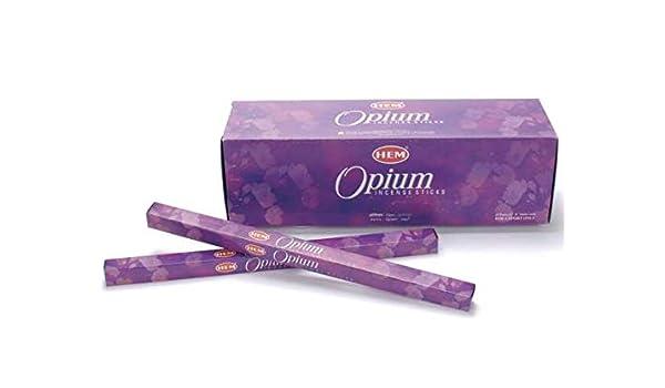 Ideapiu - 25 Incienso en Estuche Cuadrado de 8 Varillas Opium: Amazon.es: Hogar