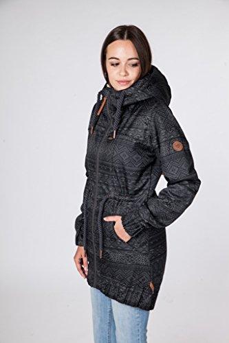 alife and kickin CHARLOTTE B Coat (graphite AOP)