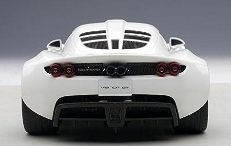 Amazon.com: Auto Art (AUTOart) AUTOart 1/18 Hennessy Venom GT Spider (White) finished product: Toys & Games