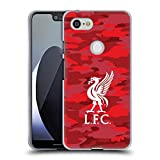 Official Liverpool Football Club Home Colourways Liver Bird Camou Soft Gel Case for Google Pixel 3 XL