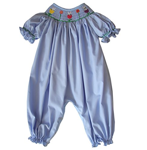 Easter Bunny Bubble - Carouselwear Divine Girls Jennifer Blue Easter Bunny Long Bubble.