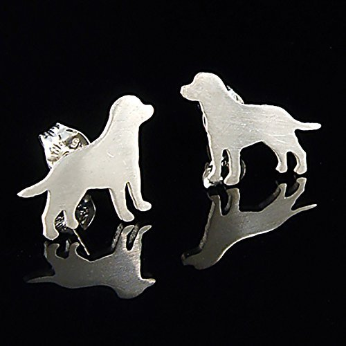 Labrador Retriever Sterling Silver Silhouette Earrings