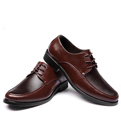 zapatos nuevos bajos con los negros ronda hombres del de ocasionales cordones zapatos brown negocio zapatos de qwU7OI