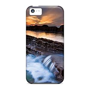 (QoJGk25676geDTS)durable Protection Case Cover For Iphone 5c(sunset Waters)