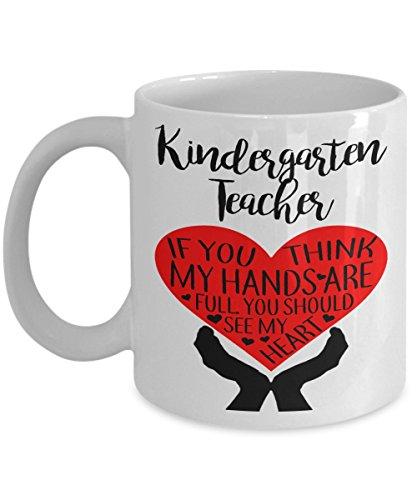 Kindergarten Teacher - Teaching Gift, Teacher Gift 11 Oz White Coffee Mug Tea Cup