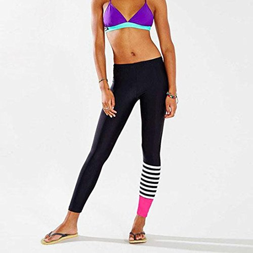 e2292695eb ... Auwer Women's High Waist Fitness Yoga Sport Pants Printed Running Pants  Dance Cropped Leggings High Waist ...