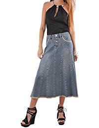 Lady Grace Denim Skirt
