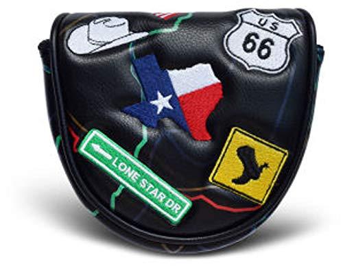 Prg Americas テキサス ハイウェイ マレット パター ヘッドカバー ブラック   B07G5LDSQF