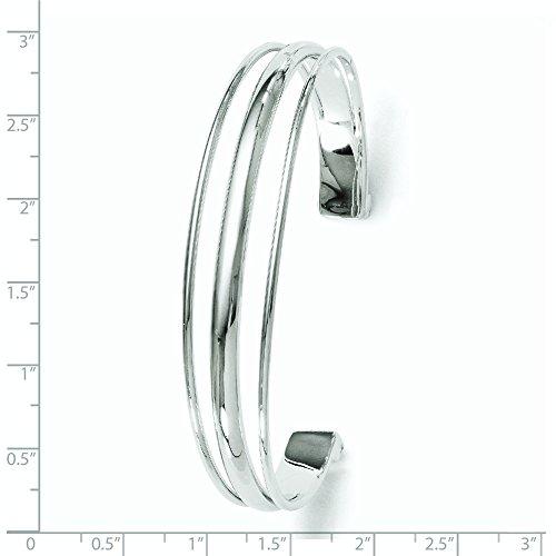 Argent Sterling poli Bracelet JewelryWeb Fancy dérapante