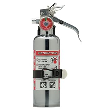 Amerex 620TC, 1lb Regular Dry Chemical Class B C Chrome Fire Extinguisher