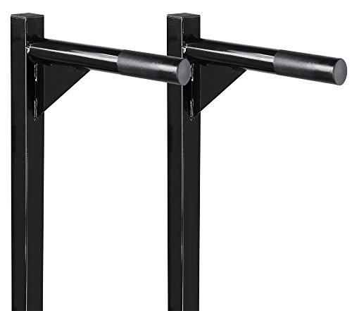 Yaheetech Heavy Duty Dip Stand Parallel Bar Bicep Triceps Home Gym Dipping Station Dip Bar/Power Tower