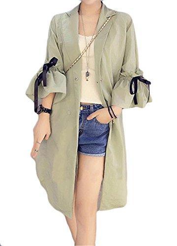 [ヤンーチ] レディース カーディガン UVカット 冷房対策 ロングコート 薄手 夏 カジュアル フレア袖 おしゃれ