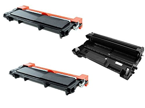 Awesometoner Drum Unit + 2 Toner Compatible with Brother DR520 + 2 x TN580, MFC 8460N 8660DN 8670DN 8860DN 8870DW, HL 5240 5250DN 5250DNT 5280DW, DCP 8060 8065DN