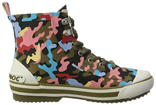Donna Di Dog Rainy Rocket Gomma Multicolore olive Multi Hy7 Stivali 1XRAXwq