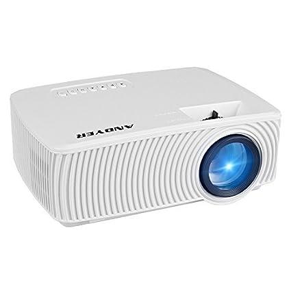 Amazon.com: andyer Proyector portátil Mini proyector LED ...
