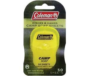 Coleman Dish and Hands Camp Soap Sheets, 50 sheets