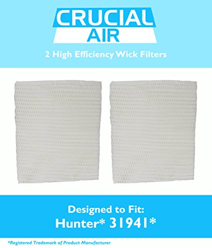 2 Hunter 31941 Humidifier Wick Filters, Fits 31941 & 31952, by Think Crucial