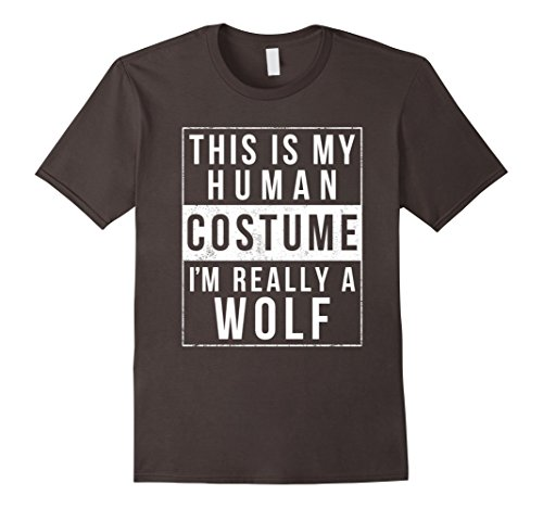 Mens Wolf Halloween Costume Shirt Funny Easy for Kids Men Women Large (Funny Womens Halloween Costume)