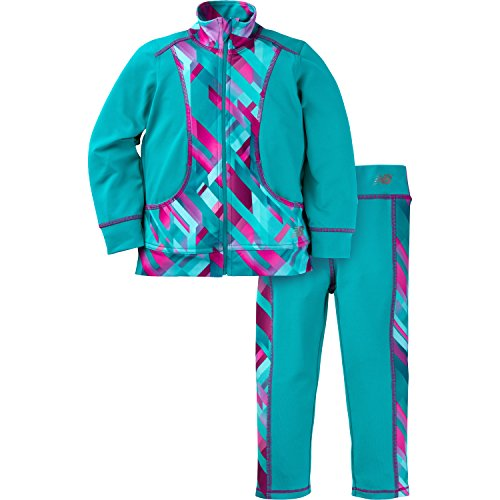 New Balance Baby Girls Athletic Jacket and Pant Set, Pisces/Plaid, 12 Months (New Balance Plaid)