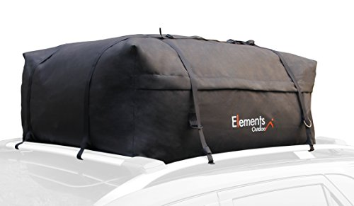 Elements Outdoor Roof Top Cargo Carrier Bag – 15 Cubic Feet (Element Rack Roof)