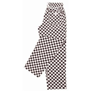 Easyfit Pants - Big Black Check 100% polycotton. Size: XL (42''-44''). by