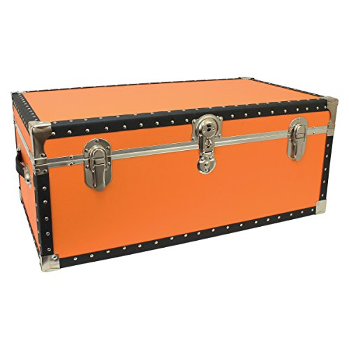seward-trunks-5220-51-tacked-footlocker-trunk-with-paper-lining-and-removable-tray-orange-30-inch