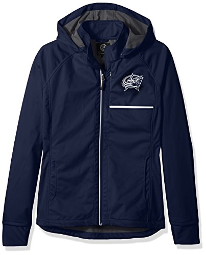 GIII For Her Adult Women Cut Back Soft Shell Jacket, Navy, Large