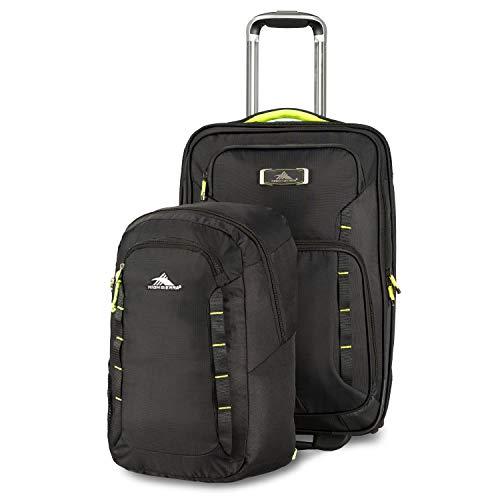- High Sierra Wheeled Carry-on w/Pack-N-Go Backpack, Black/Zest