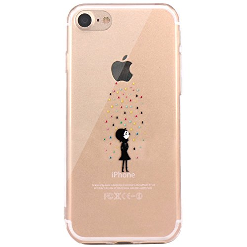 iPhone 6 Case, Walmark Amusing Whimsical Design Clear Bumper TPU Soft Case Rubber Silicone Skin Cover for iPhone 6 4.7 inch inch - Color Rain