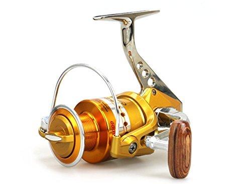 EEOZY Fishing Reels Spinning Freshwater Saltwater with BE1000-7000 all-metal wheel seat fishing wheel Handle Spinning Fishing Reel (BE5000) (Reel Metal Seat)