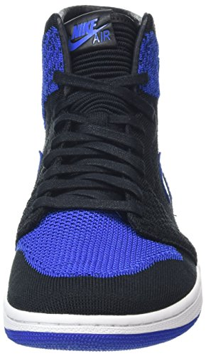 Nike Air Jordan 1 Retro Hi Flyknit, Scarpe da Basket Uomo Nero (Black Game Royalwhite)