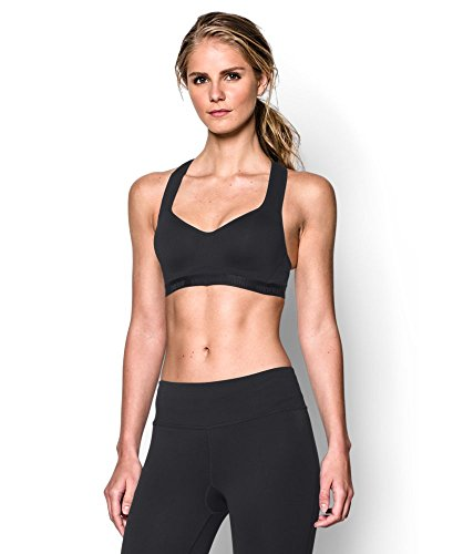 Under Armour Women's Armour High Bra, Black (001)/Black, 34D (Under Armour Heatgear Sports Bra High Impact)