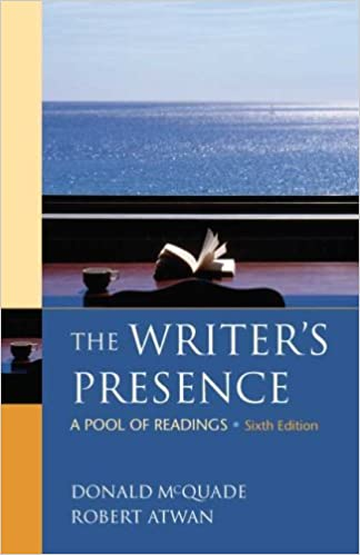 The writers presence a pool of readings donald mcquade robert the writers presence a pool of readings donald mcquade robert atwan 9780312486860 amazon books fandeluxe Images