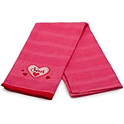 "DII ""Sweet"" Hearts Valentine's Day Embroidered Kitchen Towel"