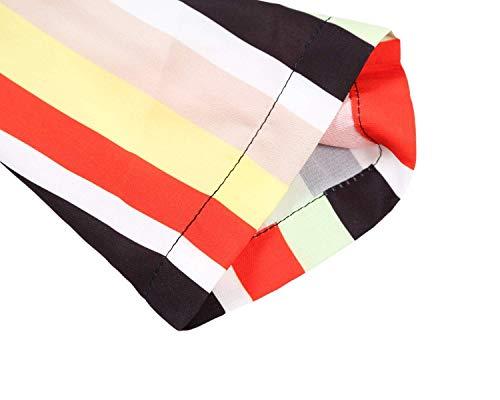 Blouse Multicolore S Top Manche Chemisier Longue V Femme Mode XXL Col Aranmei Multicolore2 x8wqFYvz