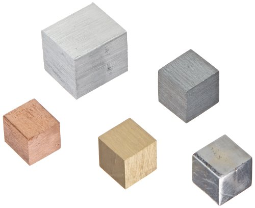 Ajax Scientific 5 Piece Equal Mass Metal Density Cube