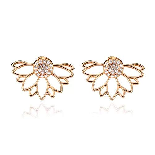 Womens Long Tassel Dangle Earrings for Girls Fringe Drop Earrings Elegant (Gold-2 Pairs earrings) (Gold Earrings For Baby Girl In Indian)