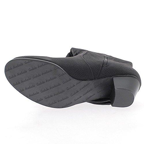 Bottes doublées noires grande taille à talon de 6cm