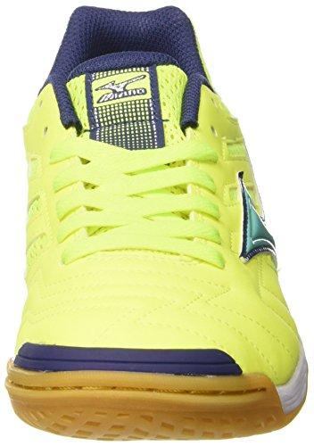 Mizuno Sala Classic In - Zapatillas de fútbol sala Hombre Multicolore (SafetyYellow/Turquoise)