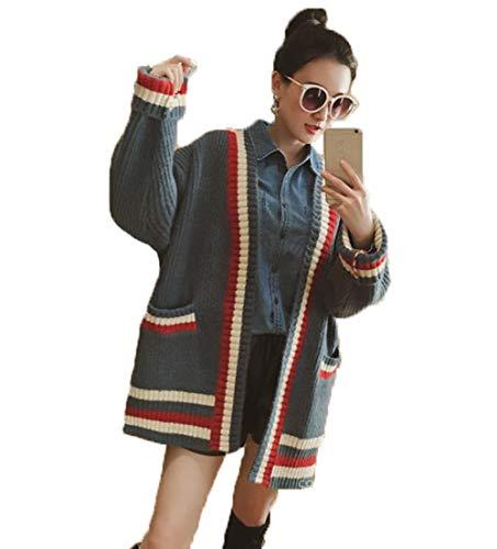 アイビエツ(AIBIETU) レディース ニット カーディガン 長袖 ゆったり 厚手 柔らかい カジュアル 無地 シンプル おしゃれ 春 秋 体型カバー