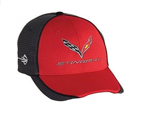 Chevrolet Corvette C7 Carbon Fiber Look Baseball Hat (Red)