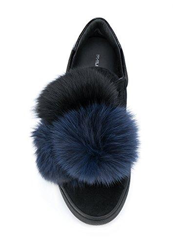 Donna Vbldpu01 Slip Philippe Camoscio Sneakers On Model Nero p4RqT