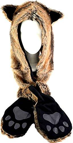 HatButik Fox Spirit Animal Furry Hood
