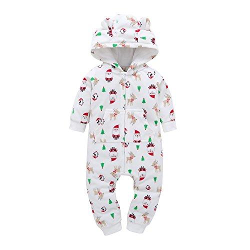 Oklady Spring Baby Girls' Fleece Rompers Sleep and Play
