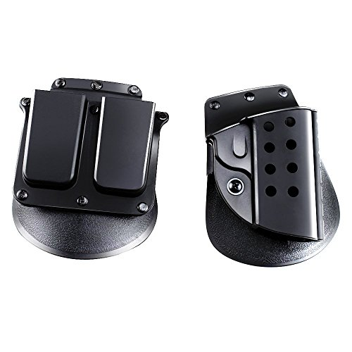 Agptek Quick Tactical Right Hand Holster and Magazine Pouch for Colt 1911 Black