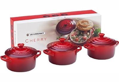 Le Creuset Stoneware Petite Round Casserole Gift Set, Cherry