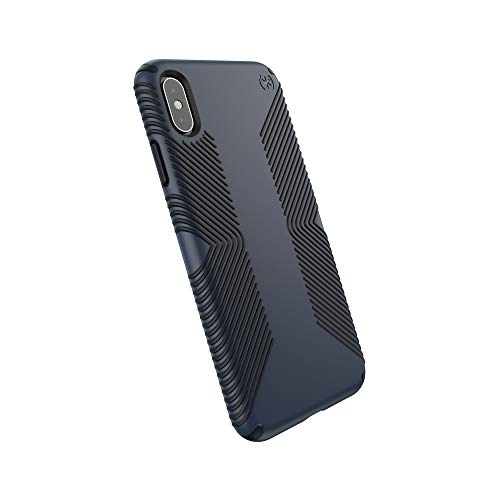 Speck Products Compatible Phone Case for Apple iPhone Xs Max/Presidio Grip Case, Eclipse Blue/Carbon Black